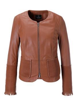 Кожаная куртка с Flechtung