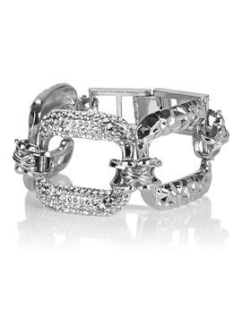 Metall-Armband mit Ziersteinen