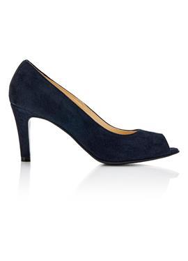 Туфли с открытым носком aus softem Veloursleder