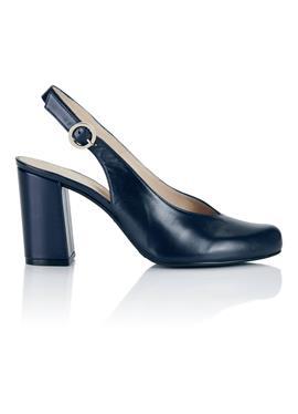 Туфли с открытой пяткой aus Leder с modischem Blockabsatz