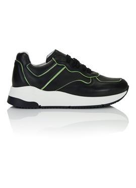 Leder-Sneaker на шнурках