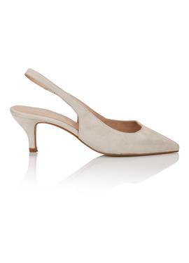 Туфли с открытой пяткой aus softem Veloursleder