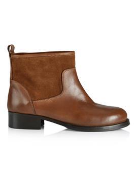 Ботинки из качественной гладкой кожи и кожи с ворсом