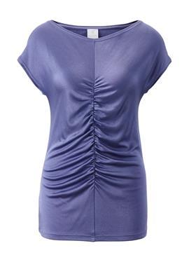Tailliertes блузка с dekorativer Raffung