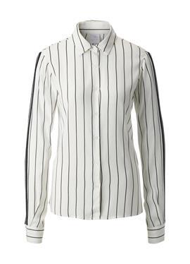 Блузка в полоску с длинными рукавами