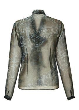 Transparente Druck-Bluse mit Schluppe