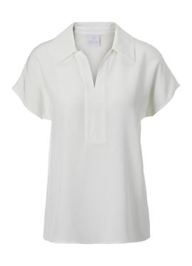 Ärmellose шелковая блузка