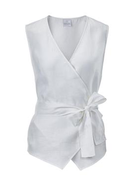 Ärmellose блузка с запахом aus reinem Leinen