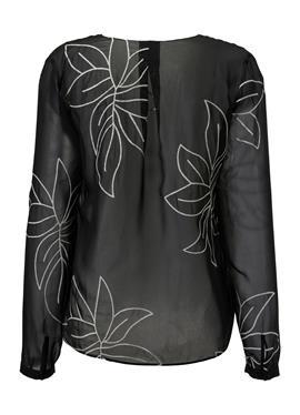 Transparentes Blusenhemd с вышивка
