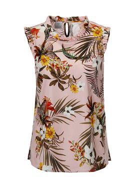 Ärmellose блузка с Blumen