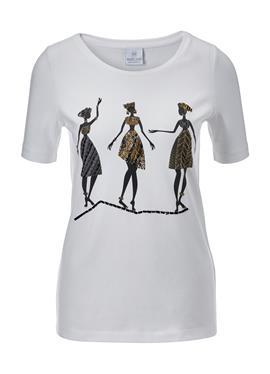 Kurzarm-Shirt с Print und вышивка