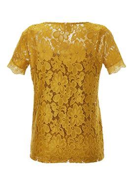 Zartes Spitzen-Shirt mit blickdichtem Unterzug