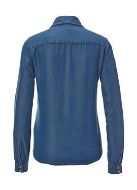 Джинсовая блузка с Volants