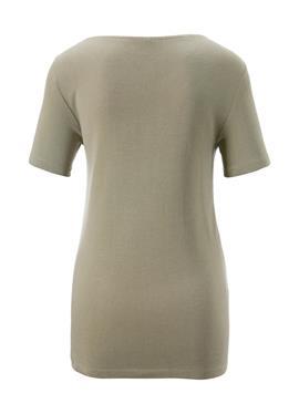 Kurzarm-Shirt mit asymmetrischem Ausschnitt