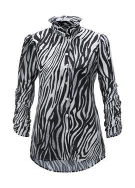 Блузка с Animal-Print und femininen Details
