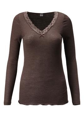 Блузка с длинные рукава und Spitze