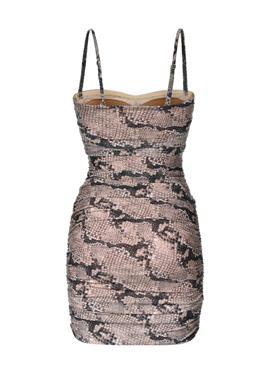 Узкое пляжное платье в стиле бандо