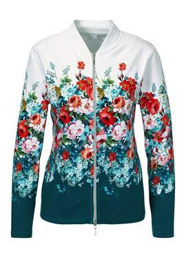 Freizeit-Jacke mit opulentem Blütenprint