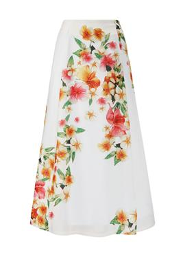 Длинная пляжная юбка с цветочным принтом