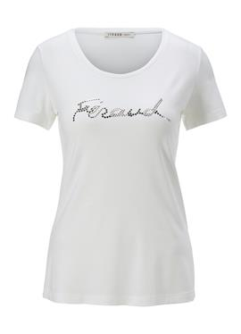Блузка с Logoplättchen-Print
