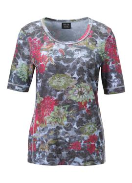 Canyon Kurzarm-Shirt mit Melange-Print