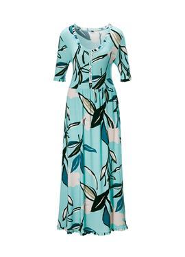 Nachtkleid mit abstraktem Blumenprint und liebevollen Details