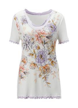 Пижама с Blütendruck und Layer-Effekt