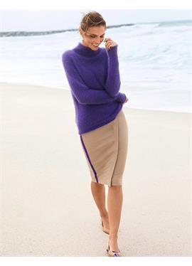 Короткая юбка с запахом