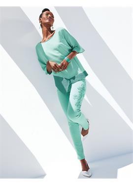 Облегающие джинсы с вышивкой