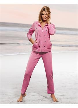 Nicki-Anzug mit edler Pailletten-Blätterstickerei