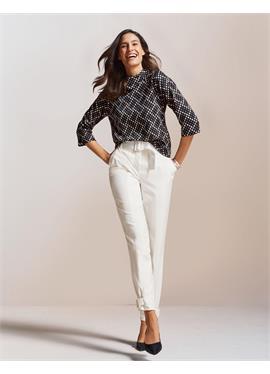 Элегантные брюки с завышенной талией