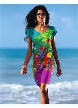 Пляжное платье с farbstarkem Floralprint