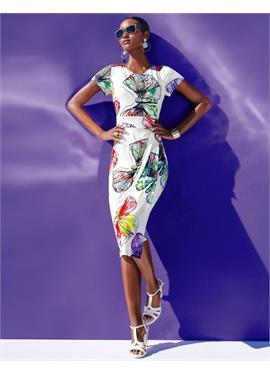 Облегающее платье с красивым принтом