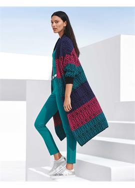 Cooler кардиган Coat im modischen Multicolor-Design