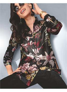 Legeres Longhemd с цветочный принт
