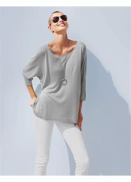 Oversized-Pullover mit asymmetrischem Saum