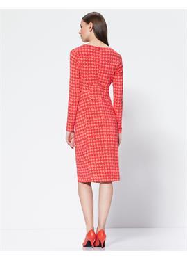 Платье со складками из джерси