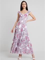 AUTUMN PAISLEY TIERED DRESS - макси-платье