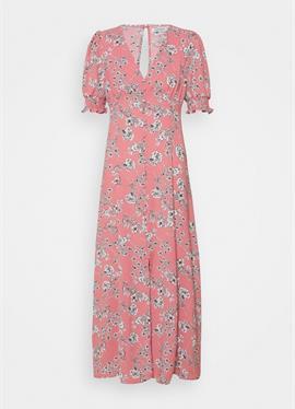 PUFF SLEEVE PLUNGE FLARED DRESS - макси-платье