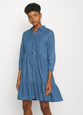 ONLENYA LIFE 3/4 SLEEVE - джинсовое платье