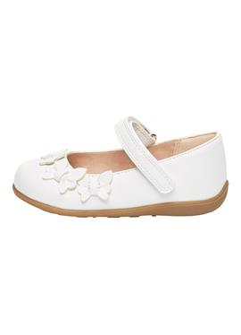 WHITE BUTTERFLY MARY JANE SHOES (YOUNGER) - Riemchenballerina
