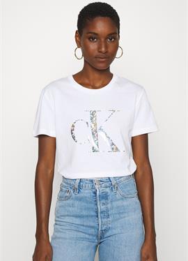 IRIDESCENT METALLIC LOGO TEE - футболка print