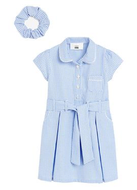 GINGHAM BOW WITH SCRUNCHIE - платье