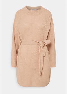 TIE WAIST JUMPER DRESS - вязаное платье