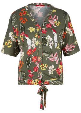 С KNOTEN-DETAIL - блузка рубашечного покроя