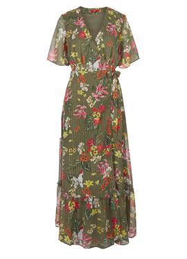 Платье из шифона с CACHE COEUR-AUSSCHNITT - платье