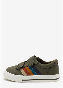 STRIPE STRAP TOUCH FASTENING SHOES - сникеры low