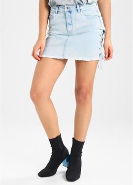 LACE UP SKIRT - джинсовая юбка