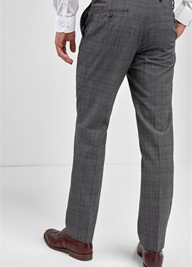 GREY CHECK WOOL MIX TAILORED FIT брюки - брюки для костюма