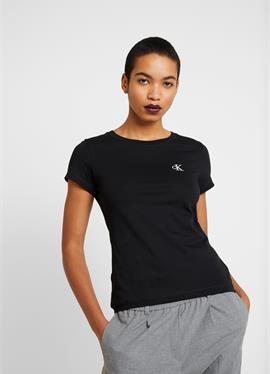 EMBROIDERY SLIM TEE - футболка basic
